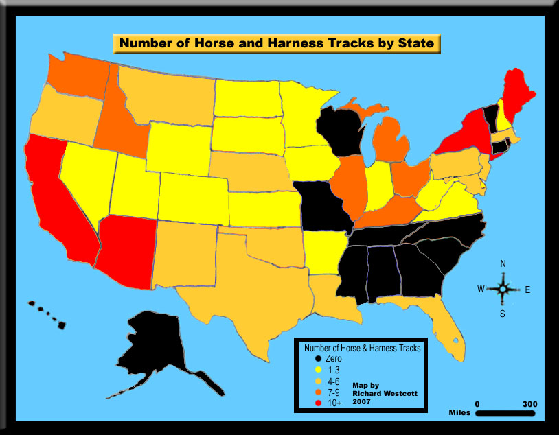 United States Map for Horse Racing Tracks